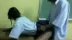 Sweet Jamaican Couple Stage A Scene Nailing In Classroom