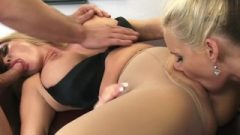 Busty Blonde Sex Teachers Phoenix Marie And Summer Brielle Share Penis