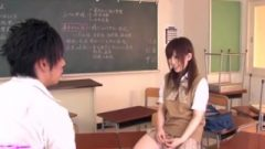 Mika Airi Wet For A Huge Cock In The Classroom