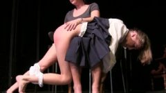 Last Day: Popular Mean Girl Is Spanked By Her Shoe In Last Day Of Detention