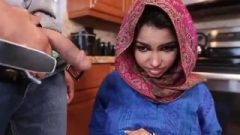 Nervous Arabian Teenager Foreign Student Blows Tool For first Time
