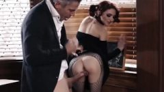 BurningAngel Goth Jerking In Detention Is Anally Punished