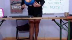 Teacher Alexis Volcano In Pantyhose