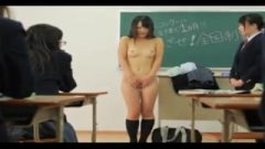 Japanese School Girl Strip In Classroom