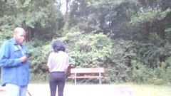 Don Spanks Whore After He Busts Her In The Park Instead Of At School