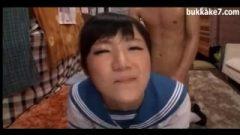 Nippon Cute School-Girl Is A Bukkake Cumslut