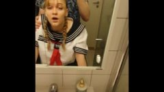 School Girl Takes Creampied In Shower-room