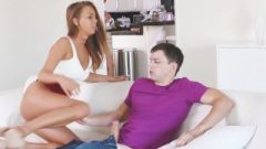 Badcougars – Busty Cougar Teaches Son How To Fuck